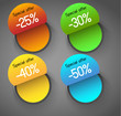abstract circles badges, price tags labels, design template