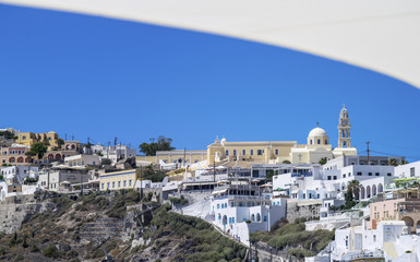 city view of Fira on Santorini