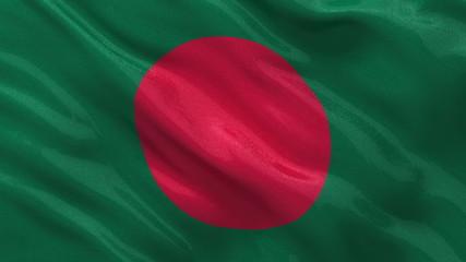 Flag of Bangladesh waving - seamless loop