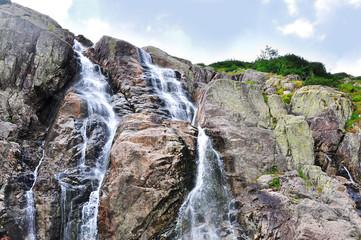 Waterfall in Tatra, mountains in Poland