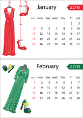 European Fashion calendar  2015 year