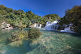 Waterfall (Skradinski buk) in Krk National Park, Croatia