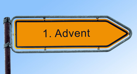 Strassenschild 6 - 1. Advent