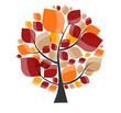 Obrazy na płótnie, fototapety, zdjęcia, fotoobrazy drukowane : Beautiful Autumn Tree on a White Background Vector Illustration.