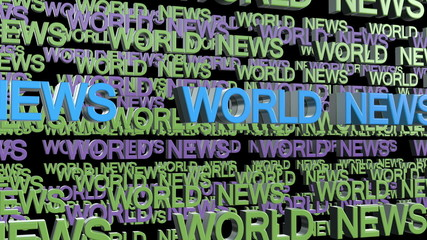 World News Looping Text