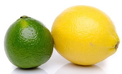 Fresh lemon and lime