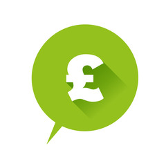 Pound icon speech bubble green