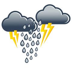 Gewitter, Wetter, Blitz und Donner, Illustration, icon