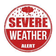 Severe weather alert stamp