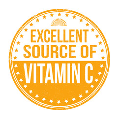 Excellent source of vitamin C stamp