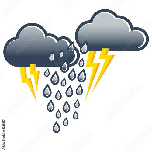 Blitz Und Donner Symbol Wetter Blitz Und Donner