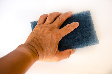 hand for cleaning with sponge