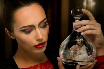 Little fairy in a bottle