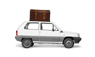car carrying a chest