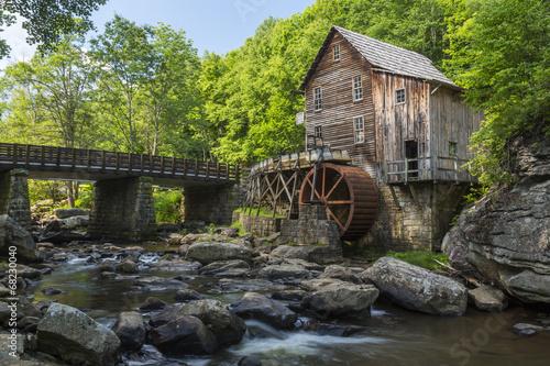 Fotobehang Vuurtoren / Mill Glade Creek Grist Mill