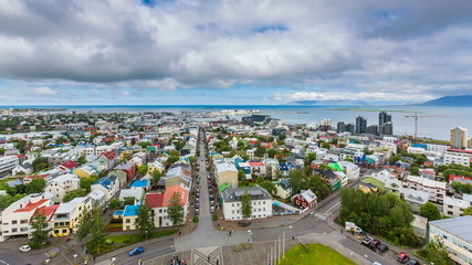 Downtown Reykjavik aerial Time Lapse, Iceland