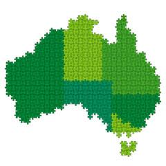 オーストラリア 地図 パズル