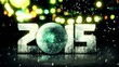 Blue Orb 2015 Snow 3D Bokeh City Background Loop Animation
