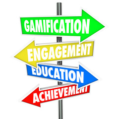 Gamification Engagement Education Achievement Arrow Signs