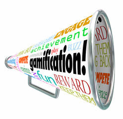 Gamification Bullhorn Megaphone Gamify Words