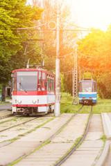 Tram on Tramway in Tallinn