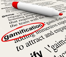 Gamification Word Circled Dictionary Definition