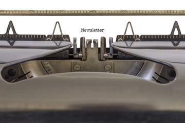Newsletter on a Typewriter