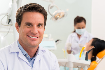 Handsome dentist
