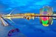 canvas print picture - Samuel Beckett Bridge in Dublin