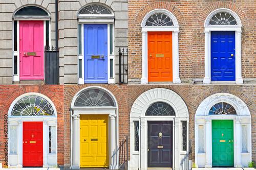 Georgian doors in Dublin Poster