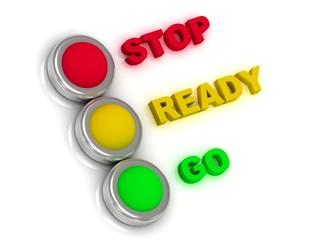 Stop, ready, go. Traffic lights