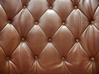 Sepia of genuine leather upholstery