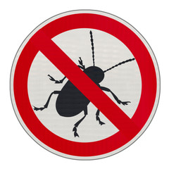 interdit aux insectes nuisibles, lutte anti-cafard