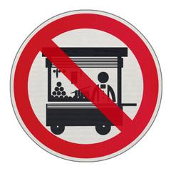 panneau interdit aux marchands ambulants