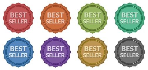 Best Seller Retro Style Badges (8 styles)
