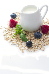 Pitcher of milk and oats