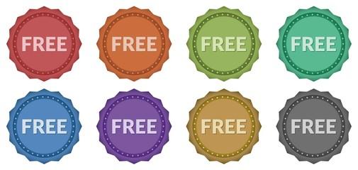 Free Retro Style Badges (8 styles)