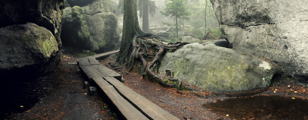 """Błędne Skały"" labirynth, ""Góry Stołowe"" national park in Poland"