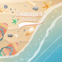 Summer holidays template. plus EPS10 vector file