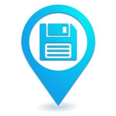 enregistrement sur symbole localisation bleu