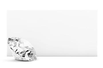 Diamond with blank paper