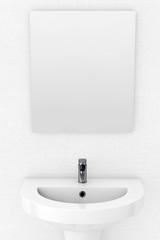 Ceramic Washbasin and Mirror