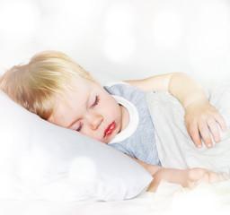 Little Boy with Fair Hair. Sleeping