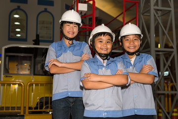 Children in power plant