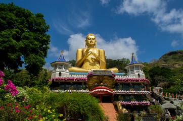 Dambulla Golden Temple in Sri Lanka