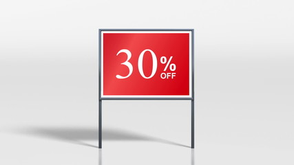 shop signage discount up