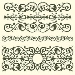 Vintage pattern, swirling elements