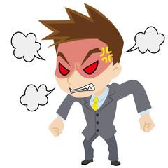 激怒するビジネスマン