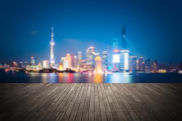dreamlike city background of shanghai skyline cityscape