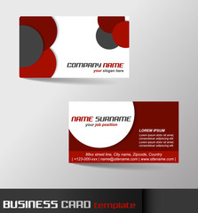 Business card template with front and back side
